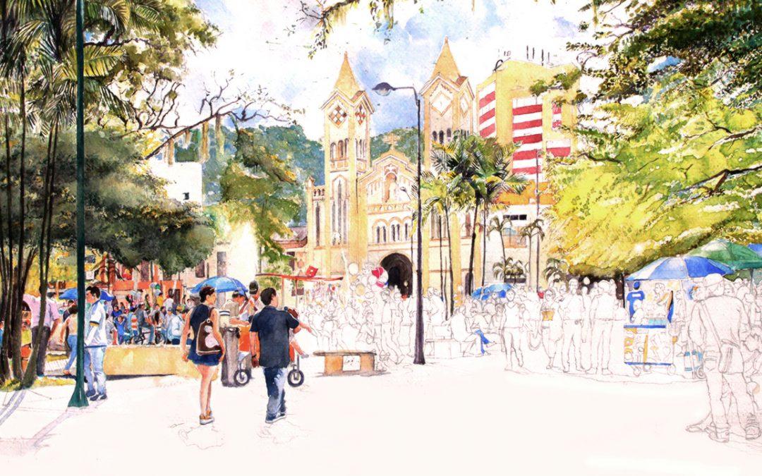 El parque Los Libertadores en día festivo