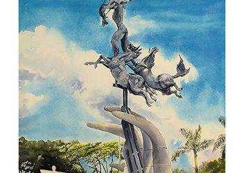 Homenaje a Rodrigo Arenas B. y su monumento a Los Fundadores, Villavicencio