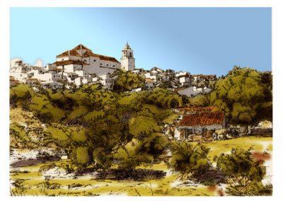 Andalucía plumilla photoshop