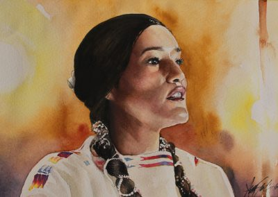 Indigena en Acuarela