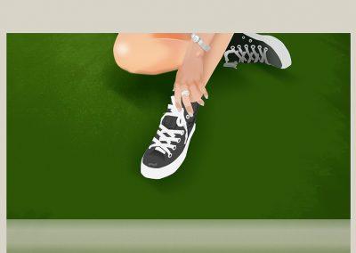 Ilustración de personajes, Tenis