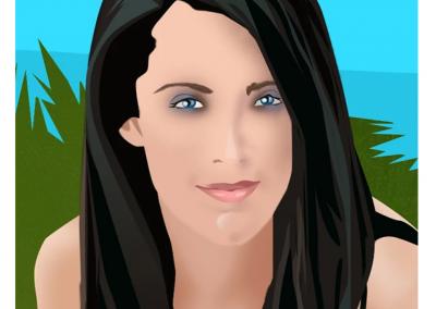 Ilustración de personajes, Andreita