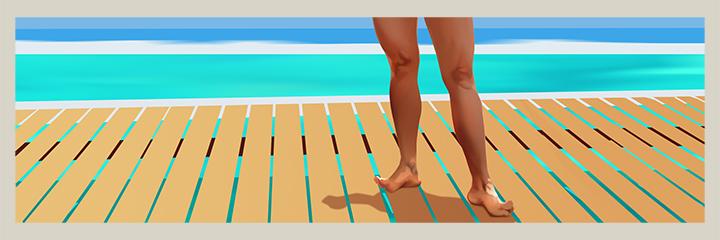 Ilustración de personajes, piernas